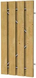 fijnbezaagd plankendeur grenen op verstelbaar stalen frame 100x200cm recht