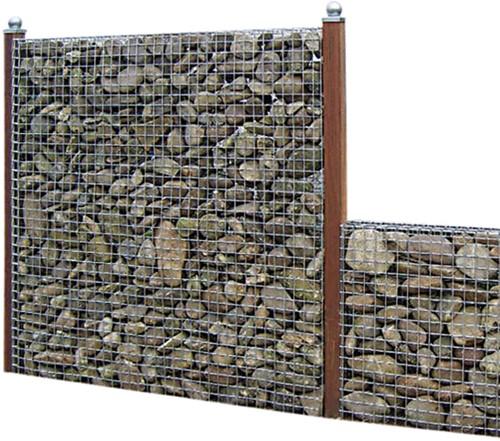 Schanskorfscherm met maas 5x5cm 177x180x15cm (BxHxD) (08340)