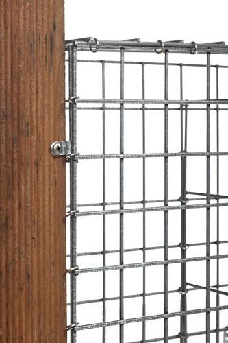 Steenkorfscherm met maas 5x5 cm, 120x180x10cm. (W08370)