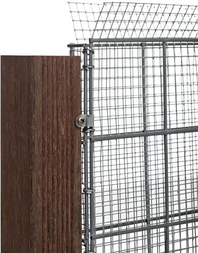Grindschutting met maas 1x1cm 90x180x4cm (BxHxD) (08380)