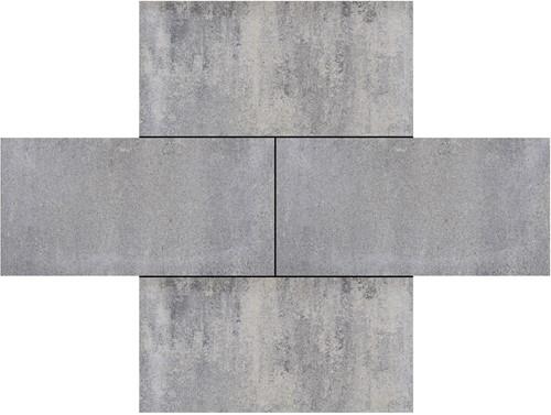 Fortress Tiles 30x60x6cm Sark grijs/zwart