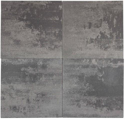 Geostretto Plus Tops 80x80x4cm Roma grijs/zwart