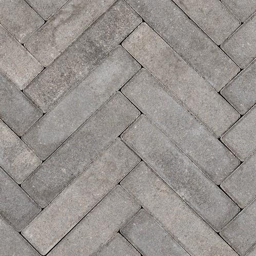 Sierbetonklinker Waalformaat 5x20x6cm grijs/zwart