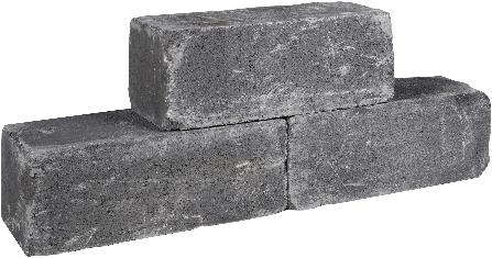 Palinoblock getrommeld 45x15x15cm antraciet