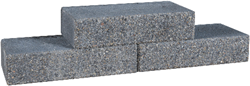 Graniblock  38x18x9cm antraciet