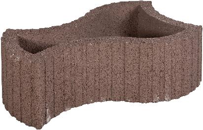 Maxiflor 52x37/25x25cm bruin