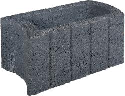 Ovalflor 40x21x20cm zwart