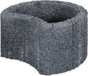 Moonflor Ø35x20cm zwart