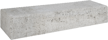 Betonbiels 12x20x60cm grijs