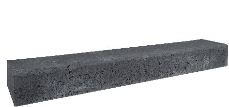 Betonbiels 12x20x100cm zwart