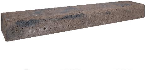 Retro betonbiels 120x20x12cm bruin