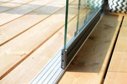 Glazen schuifwand per strekkende meter (W12880)