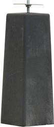 Betonpoer recht 15x15/18x18x50cm met verzinkte plaat v.z.v. gelaste bout, antraciet