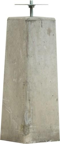 Betonpoer taps 15x15/18x18x50cm met verzinkte plaat v.z.v. gelaste bout, grijs (1007875)