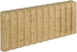 Mini Palissadeband 6x25x50cm geel