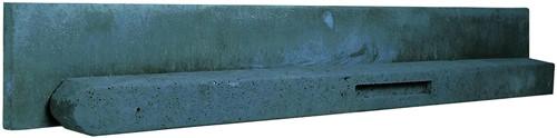 Betonpaal stampbeton 10x10x180cm antraciet tussenpaal t.b.v. scherm 90cm hoog (W13039)