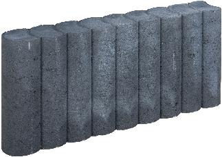Rondo Palissadeband 8x25x50cm zwart