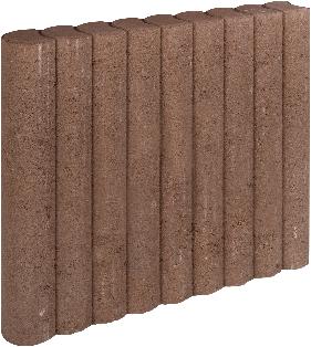Rondo Palissadeband 8x50x50cm bruin