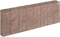Mini Blokjesband 6x20x50cm bruin