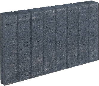 Mini Blokjesband 6x35x50cm zwart