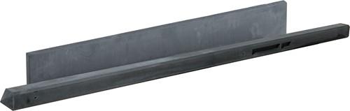 Betonpaal glad met diamantkop 10x10x280cm antraciet ongecoat, hoekpaal (W13233)