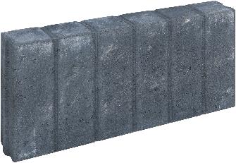 Blokjesband 8x25x50cm zwart