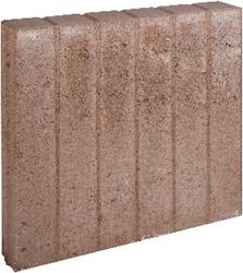 Blokjesband 8x50x50cm bruin