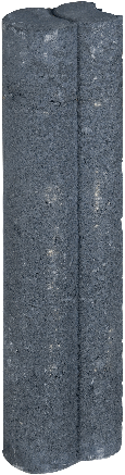 Mini Duo Palissaden Ø6x8,3x40cm zwart