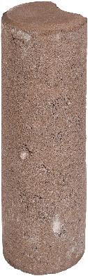 Palissaden paal Ø8x25cm bruin