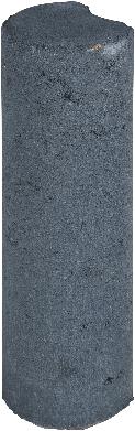 Palissaden paal Ø8x25cm zwart