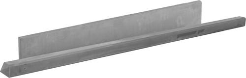 Betonpaal glad met diamantkop 10x10x280cm grijs ongecoat, tussenpaal (W13412)