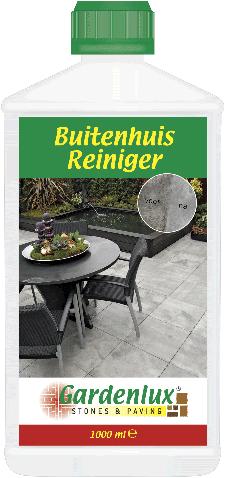 Gardenlux buitenhuisreiniger verwijdert vlekken van bladeren,