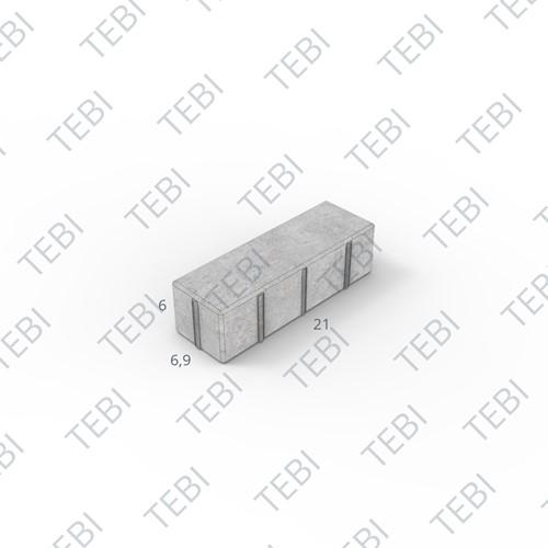 Dikformaat facet 21x6,9x6cm grijs