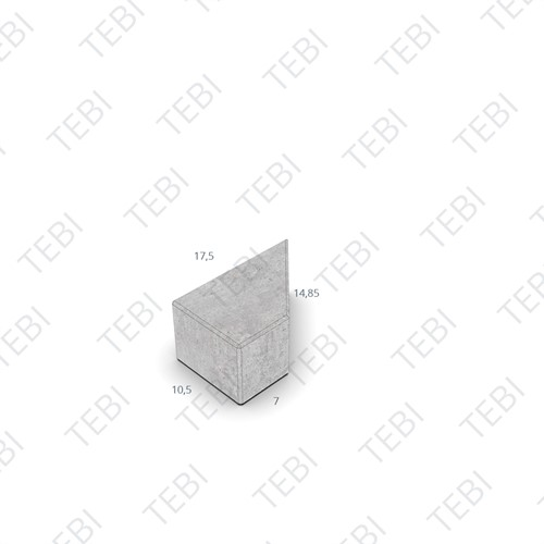 Kepersteen BKK 8cm D-TOP uitgew. Zwart