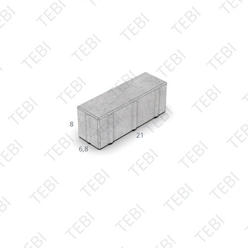 Dikformaat D-TOP uitgew. 21x6,9x8cm grijs