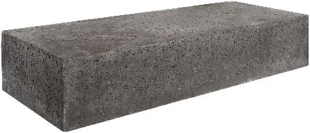 Oud Hollandse traptrede massief 20x40x100cm carbon