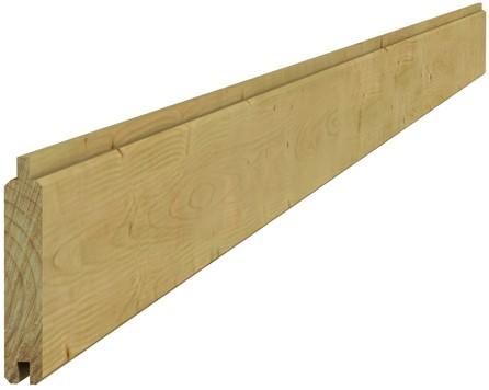 Scand vuren geschaafd dakbeschot 1,6x10x420cm groen geïmpr. (W26525)