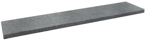 Basaltino Flamed vijverrand zwart 3x25x100cm