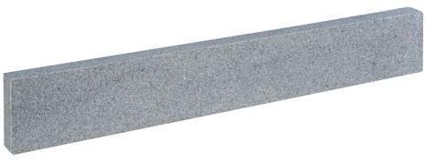 Graniet opsluitband Dark Grey Flamed donkergrijs 5x15x100cm
