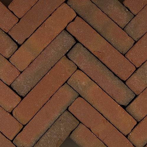 Art Bricks waalformaat 5x20x6,5cm Fabritius rood/bruin