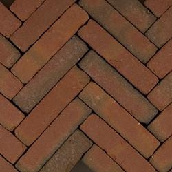 Art Bricks waalformaat 5x20x8,5cm Fabritius rood/bruin