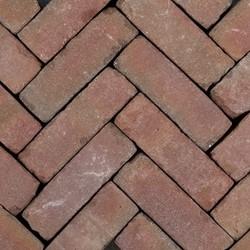 Art Bricks dikformaat 7x20x8,5cm Fabritius rood/bruin