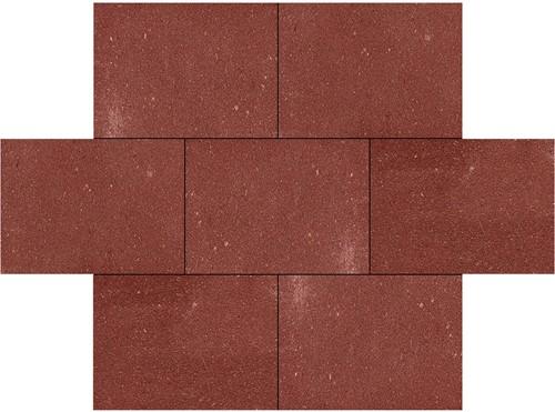 Betontegel 40x60x5cm rood