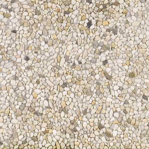 Berggrindtegel 50x50x5cm wit/geel