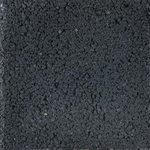 Pasblok 20x20x4,5cm  zwart structuur