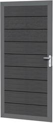 Composiet deur in aluminium frame 90x183cm antraciet