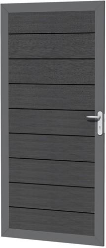 Composiet deur in aluminium frame 90x183cm antraciet (W23435)