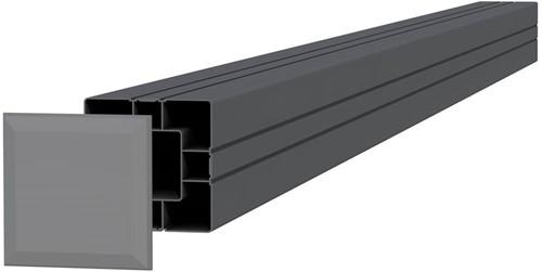 Aluminium paal 8,4x8,4x270cm antraciet