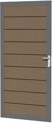 Composiet deur in aluminium frame 90x183cm bruin