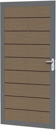 Composiet deur in aluminium frame 90x183cm bruin (W23645)